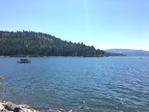 湖Couer d'Alene,爱达荷 免版税库存图片