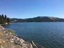 湖Couer d'Alene,爱达荷 库存照片