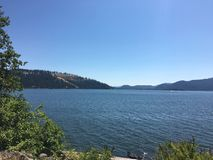 湖Couer d'Alene,爱达荷 免版税库存照片