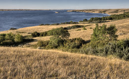 湖diefenbaker萨斯喀彻温省加拿大 库存照片