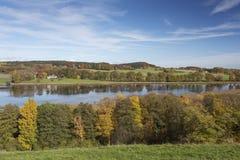 湖Egglsee在巴伐利亚,德国 免版税库存照片