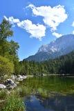 湖Eibsee德国 库存照片