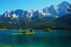 湖eibsee巴伐利亚 免版税库存图片