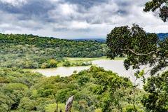 湖Gatun,鸟瞰图 库存照片