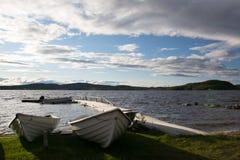 湖Inari,拉普兰,芬兰 免版税库存图片