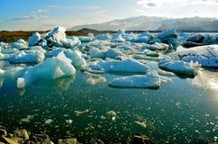 湖Jokulsarlon,冰岛 免版税库存图片