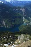 湖Konigsee在德国 免版税库存图片