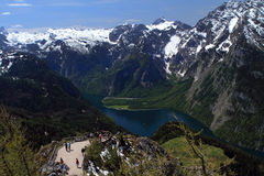 湖Konigsee在德国 免版税库存照片