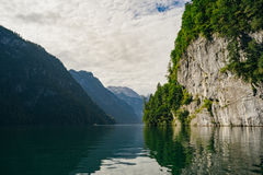 湖Konigssee,巴伐利亚,德国 库存照片