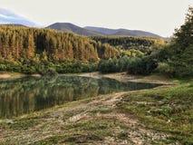 湖Krinec,班斯科 库存照片