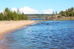 湖Ladoga。 卡累利阿。 俄国 库存图片