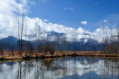 湖lugu风景 免版税库存图片