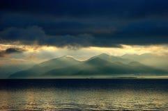湖lugu 免版税库存照片