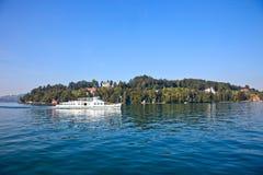 湖luzern瑞士 库存照片
