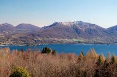 湖maggiore panorami视图 库存照片