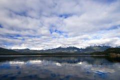 湖manapouri 库存照片