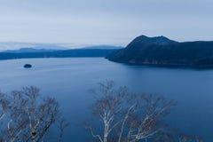 湖Mashu,北海道,日本 库存图片