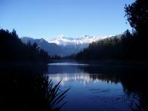 湖matheson新西兰 免版税库存图片