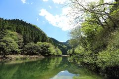 湖Midori在爱知,日本 库存照片