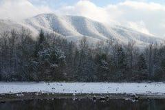 湖mountain3雪 库存图片