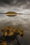 湖Myvatn在西北冰岛 库存图片