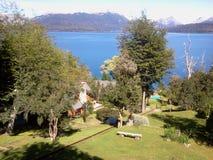 湖Nahuel HuapÃ,阿根廷 库存照片