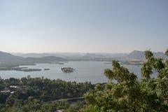 湖nakki鸟瞰图 库存照片
