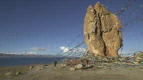 湖namtso西藏 免版税库存图片