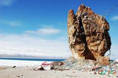 湖namtso西藏 库存照片