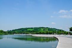 湖nanji公园pyeonghwa 免版税库存照片