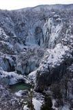 湖nationa公园plitvice 免版税库存图片