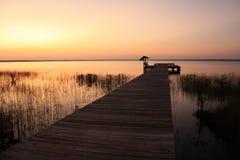 湖nc公园状态waccamaw 库存照片