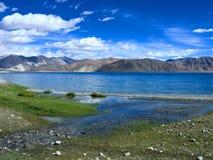 湖pangong视图 免版税库存照片