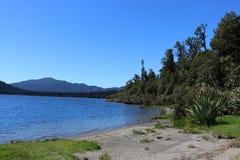 湖Paringa,西海岸,南岛,新西兰 库存照片