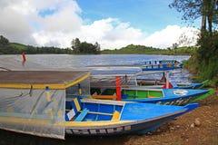 湖PATENGGANG在印度尼西亚 免版税库存图片
