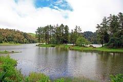 湖PATENGGANG在印度尼西亚 免版税库存照片