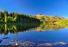 湖payton平静的犹他 库存照片
