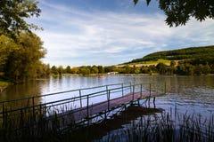 湖Porstendorf 库存照片