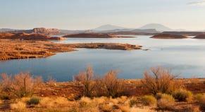 湖Powell横向日出 免版税库存照片