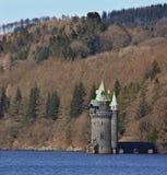 湖powys英国vyrnwy威尔士 库存照片