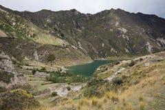 湖quilotoa 图库摄影