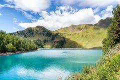 湖Ritom,瑞士的Piora 免版税库存图片