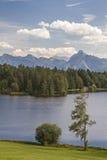 湖Schwalten在Allgaeu 库存照片