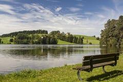 湖Schwalten在Allgaeu 免版税库存照片