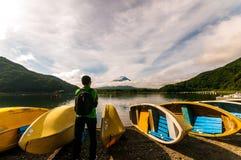 湖Shojiko,日本 库存图片