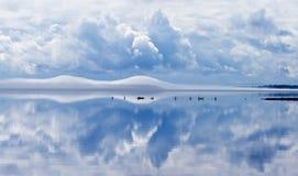 湖siljan瑞典 库存图片