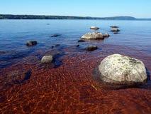 湖siljan瑞典 免版税图库摄影