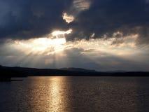 湖siljan瑞典 图库摄影
