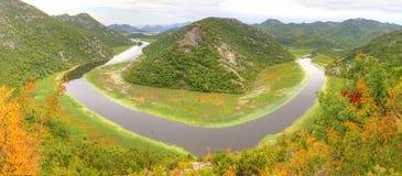 湖skadar的montenegro 免版税库存照片