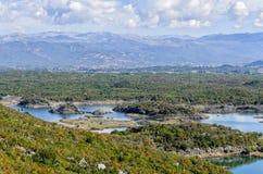 湖Slansko在蒙特内哥罗 库存照片